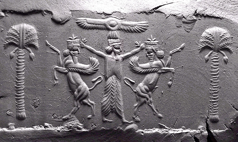 Cylinder_Seal,_Achaemenid,_modern_impression_05